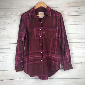 Mossimo Boyfriend Flannel Shirt Size M
